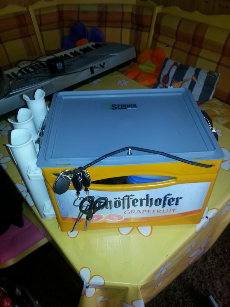 """Auch andere Kisten können eingestzt werden je nach """"Durst"""" des Inhabers"""
