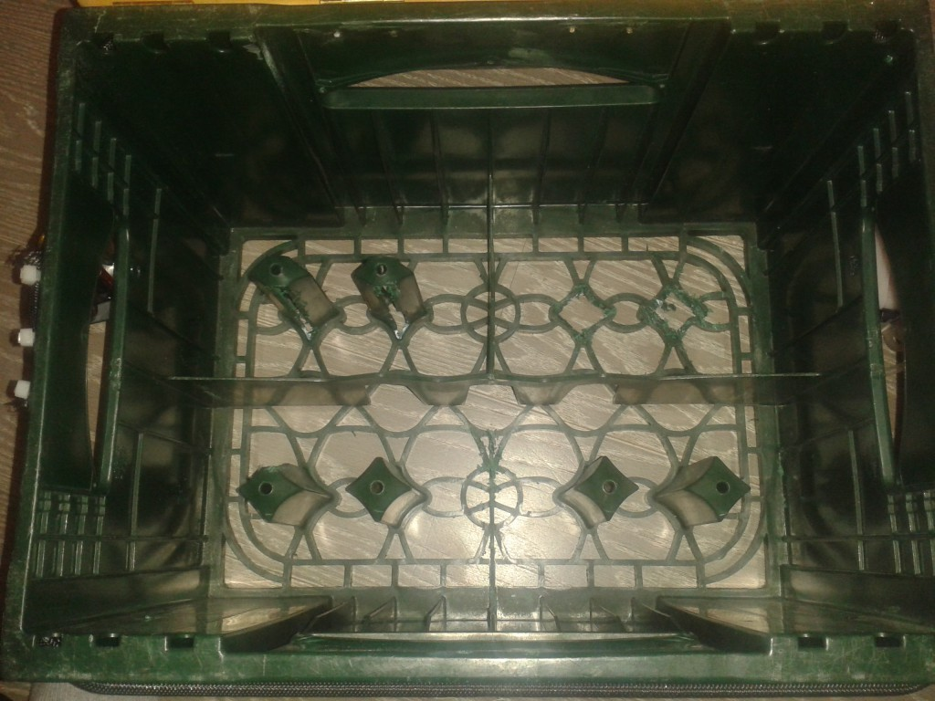 Die leere Kiste mit den verschiedenen Kammern